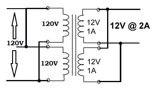 12 volt transformer diagram