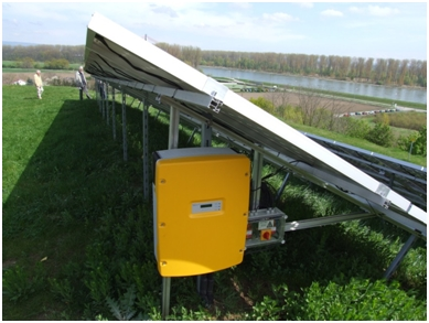 Inverter using solar energy as input