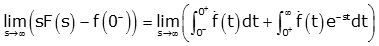 laplace initial and final value theorem pdf