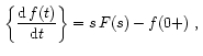 Theorems of Laplace Transform 28