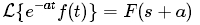 Theorems of Laplace Transform 3