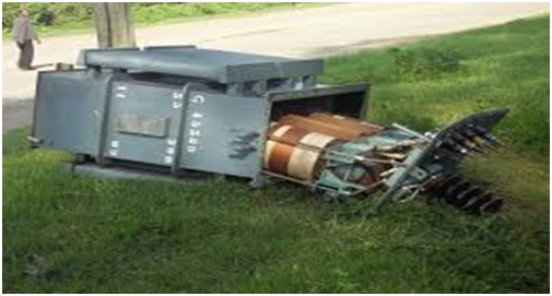 Fig1: vandalized transformer in one of the towns