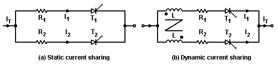 Series and parallel operation of thyristors 6