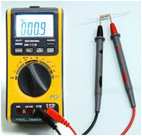 Measuring resistance with Ohmmeter 1