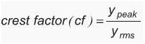crest-Factor-formula
