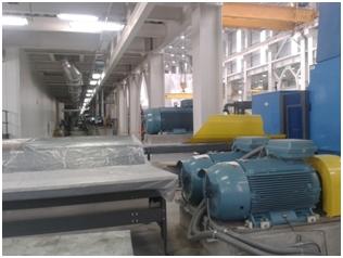 paper winding machine driven by AC motors
