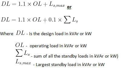 designed load formula