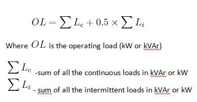 operating load formula