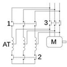 Star-delta motor starter configuration   image: bhs4.com