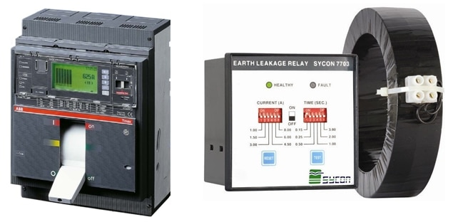 Circuit Breaker Ground fault relay