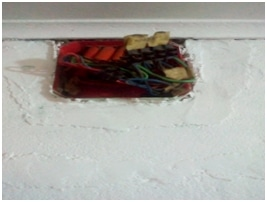 Opened  junction boxes