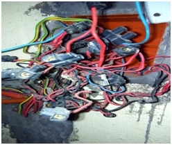 Overcrowd your outlet or electrical box with wires