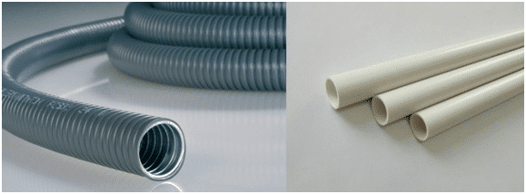 Flexible and rigid PVC conduit