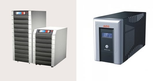Modular UPS (left), Conventional UPS (right)