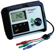 A standard megger used for Insulation Resistance Test