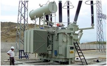 power transformer substation installation