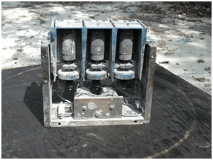 A contaminated switchgear