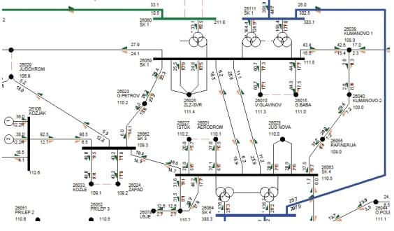 autotransformers installation voltage power flow