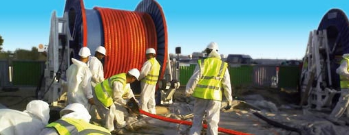 Laying of electrical underground distribution lines