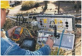 Fault diagnosis of UG cables by megger testing