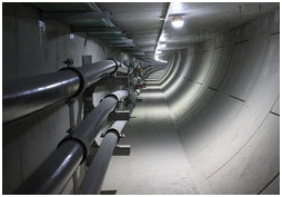 Underground cable trench