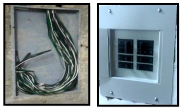 Figure 4: Wiring and final installation of electrical cable