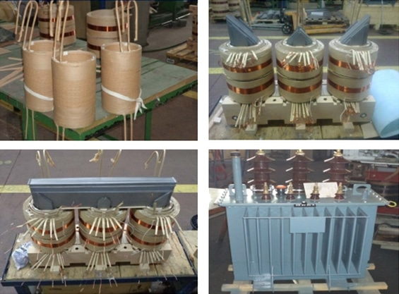 Picture 2. Transformer building stages